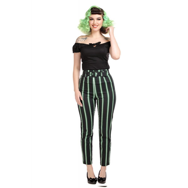 Thea Trousers in Witchy Stripes