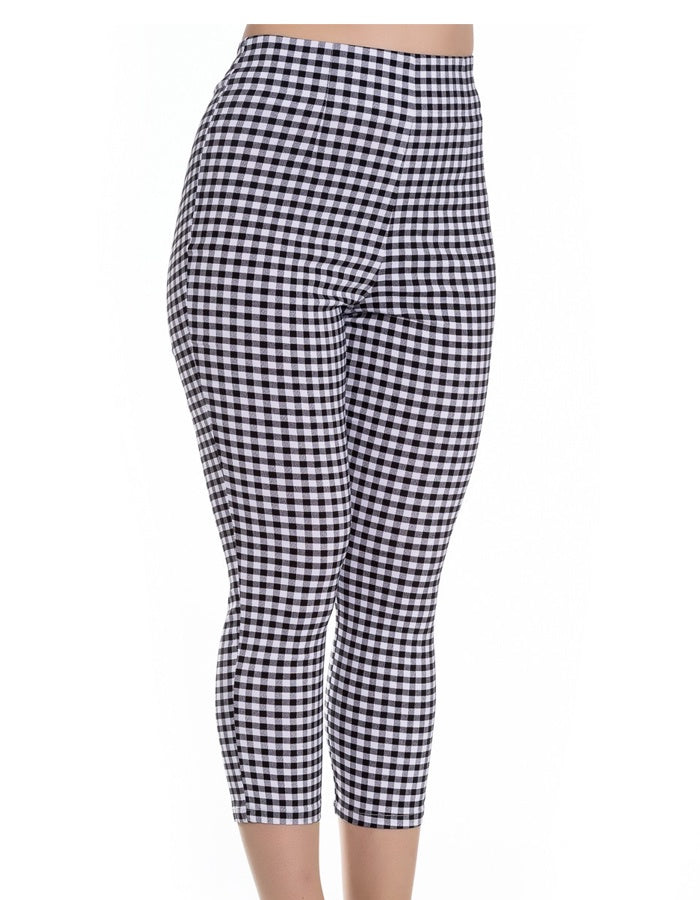 Judys Black Gingham Cigarette Pants