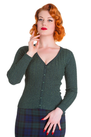 Retro Jewels Cardigan EMERALD