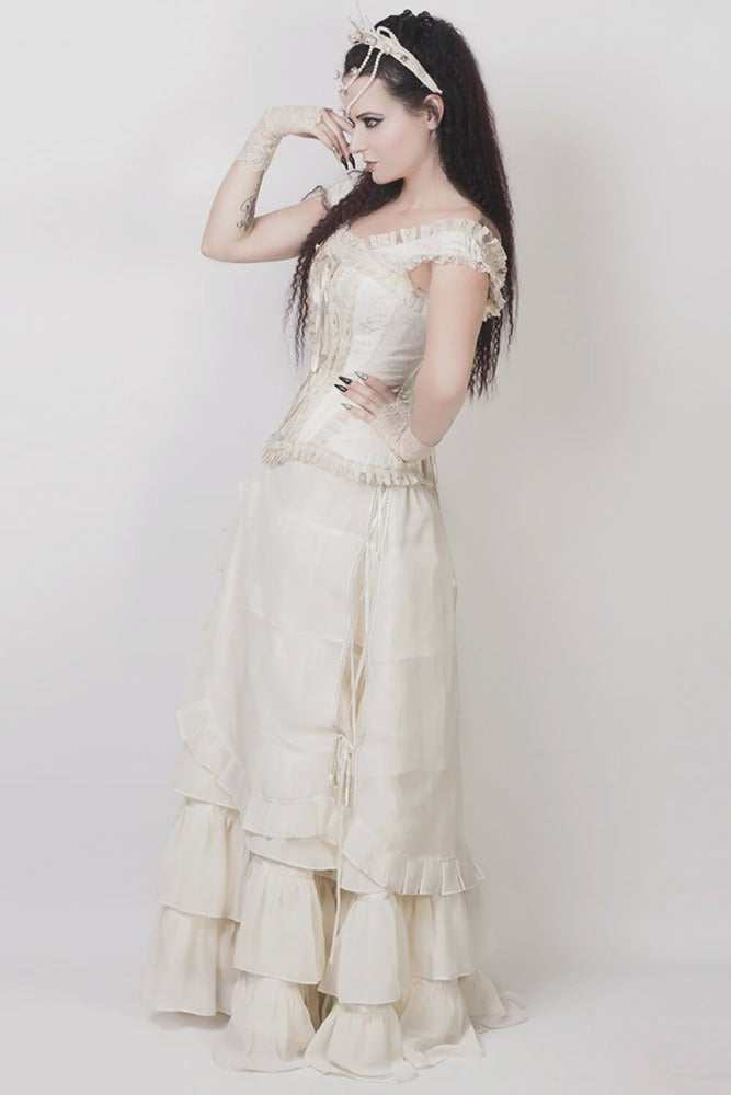 Caelius Victorian Skirt in Ivory