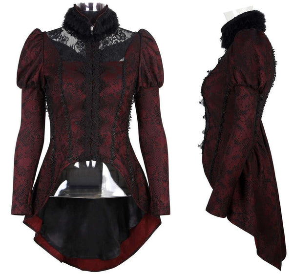 Victorian Red and Black Parlor Coat