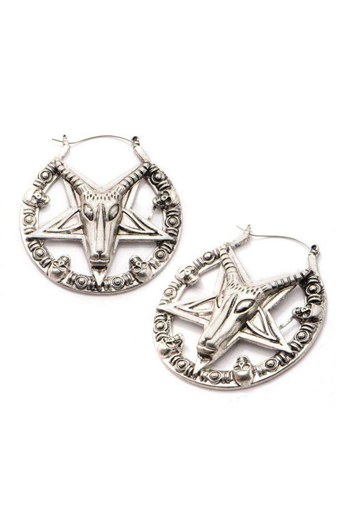 Baphomet Set Hoops