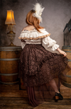 Marie's Lace Dreams Skirt in Chocolate