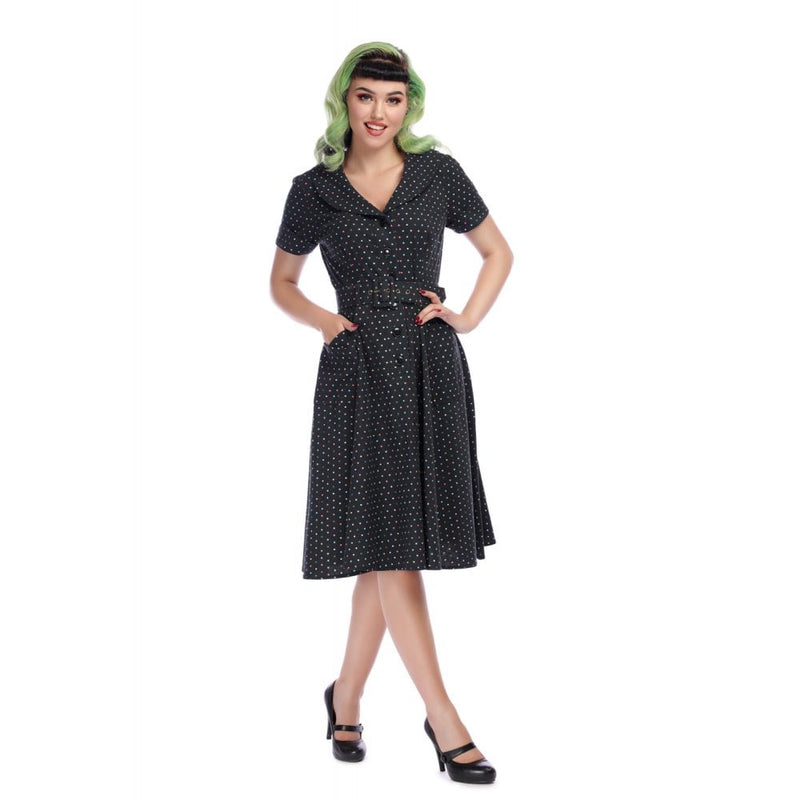 Brette Polka Dot Swing Dress