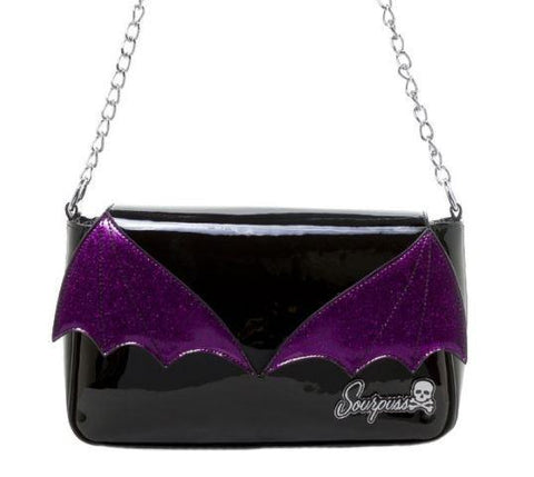 Purple Bat Wing Purse