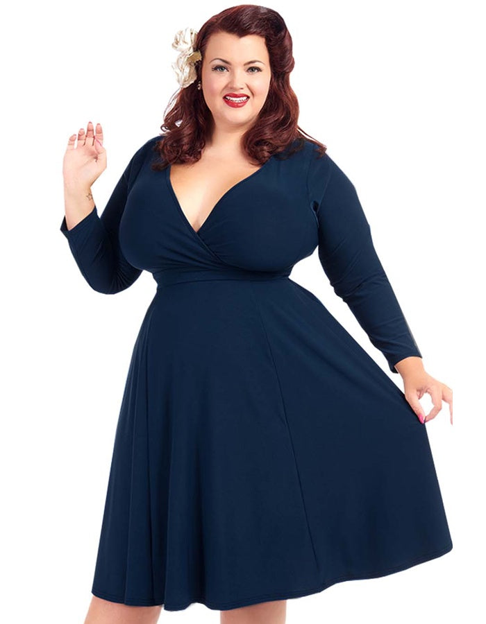 Lyra Navy Dress
