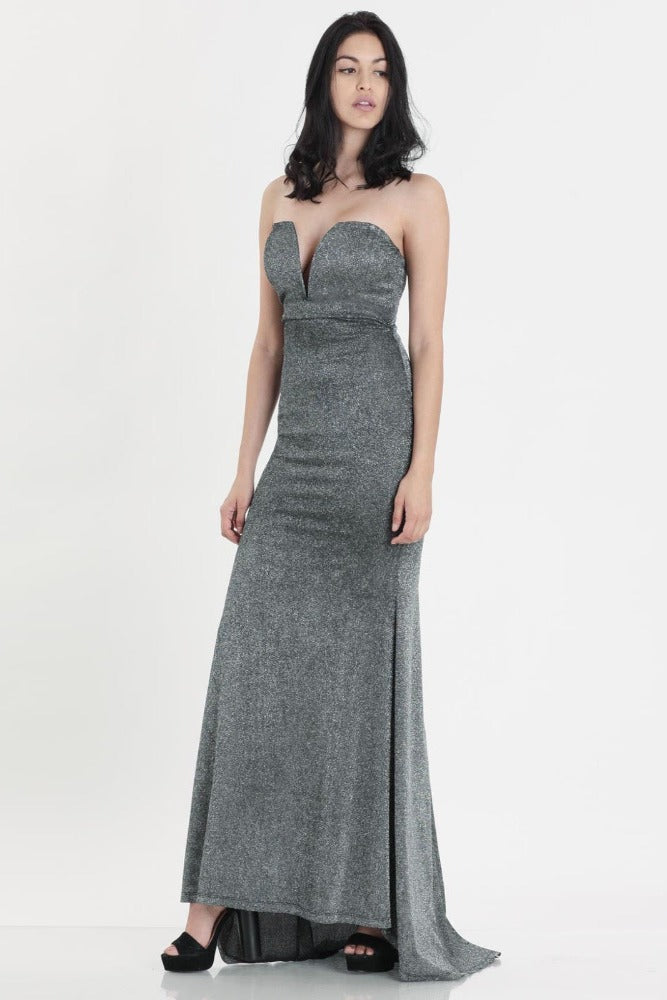 Samantha Shimmer Sweetheart Maxi Dress