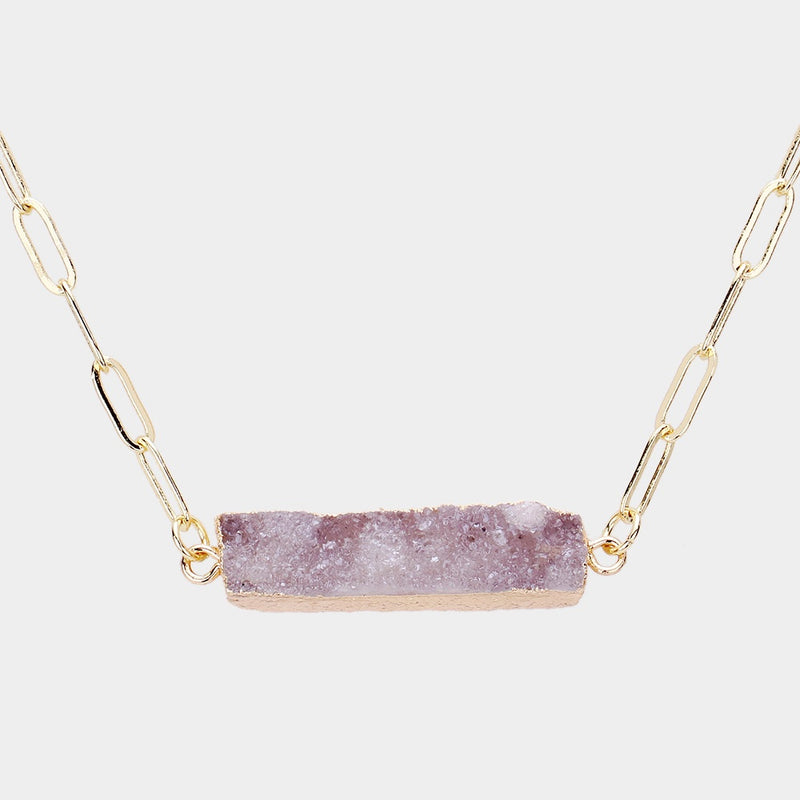 A Real Druzy Necklace