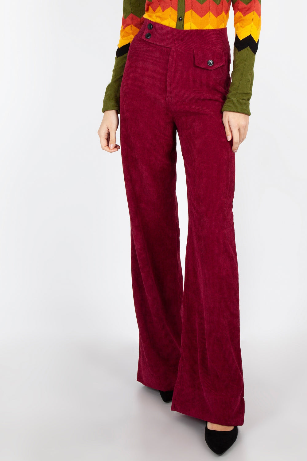 Supersleuth Corduroy Trousers in Burgundy