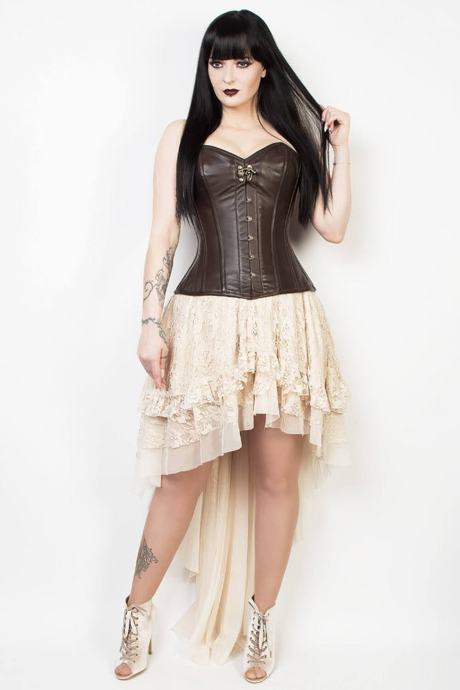 Marie's Lace Dreams Skirt in Peach