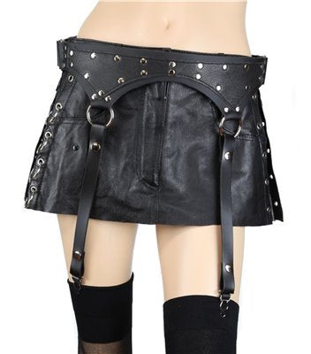 Studded Leather Garters