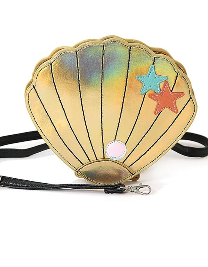 Iridescent Gold Seashell Purse