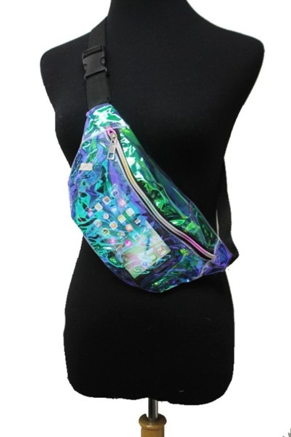 Semi-Clear Reflective Fanny Pack