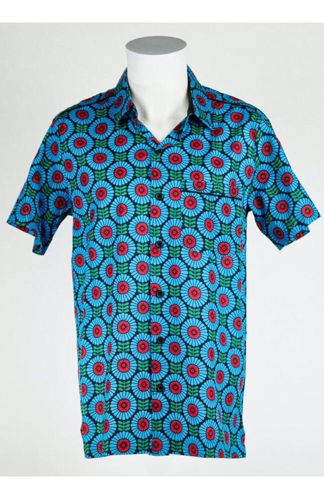 Charming Geometry Button-Up