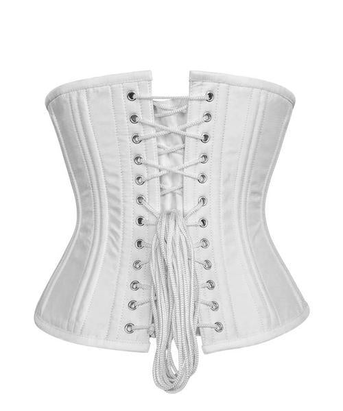 White Double Boned Waist Trainer