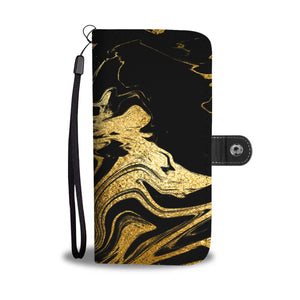 Black and Gold Marble Cell Phone Case