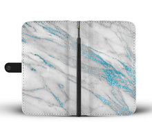 Blue Frosted Marble Cell Phone Case