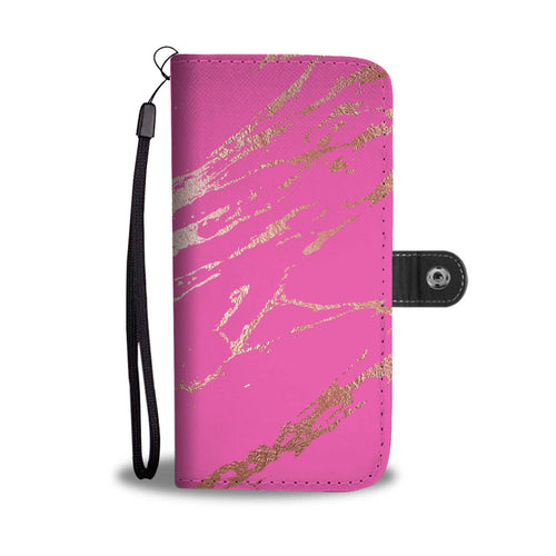 Hot Pink Gold Gilded Cell Phone Case