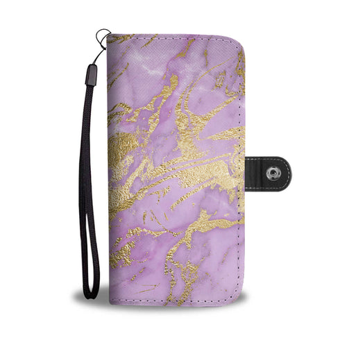 Lavender Gilded Marble Cell Phone Case