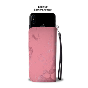 Medium Pink with Pink Gild Cell Phone Case