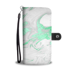 Teal Marble Cell Phone Case