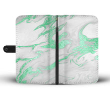 White with Mint Gild Marble Cell Phone Case