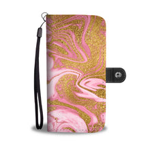 Pink and Gold Gild Cell Phone Case