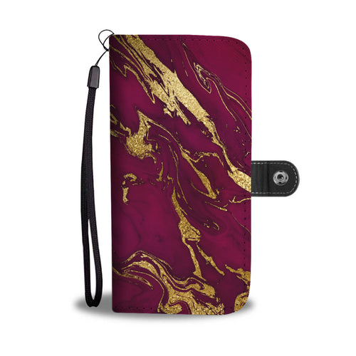 Deep Purple and Gold Gild Cell Phone Case