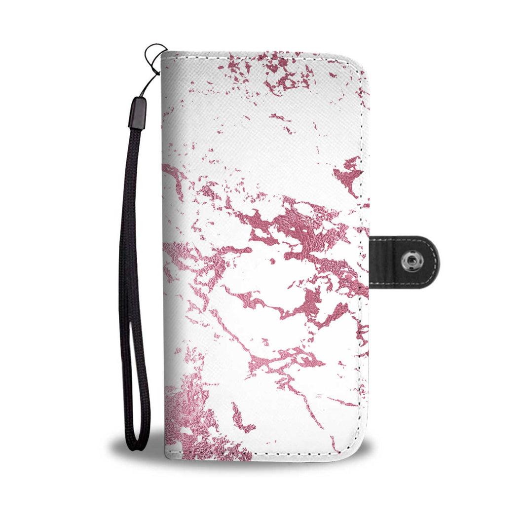 White with Pink Gild Marble Cell Phone Case