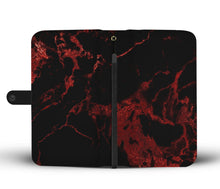 Black with Red Gild Cell Phone Case