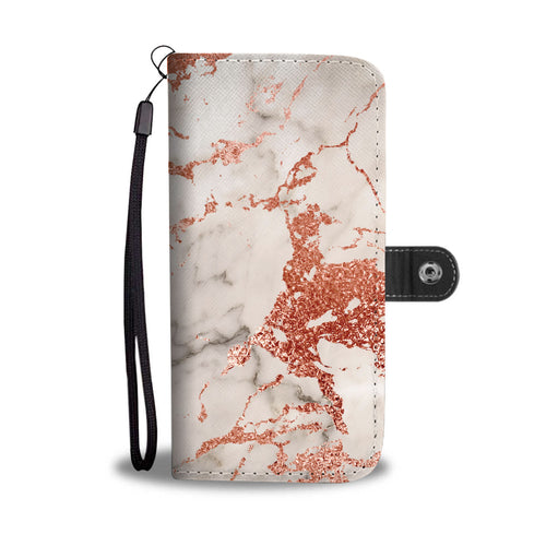 Marble with Rose Gold Gild Cell Phone Case