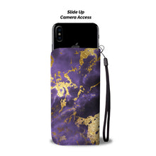 Midnight Purple and Gold Gild Cell Phone Case