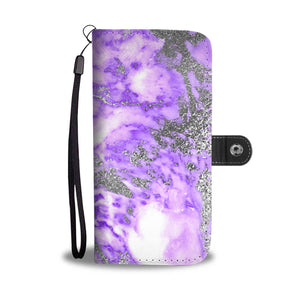 Purple and Silver Gild Cell Phone Case