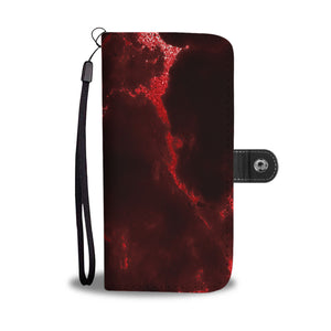 Red Fire Marble Cell Phone Case