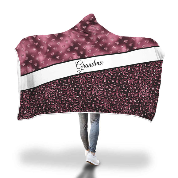 AHB-9620 Grandma Burgundy Hooded Blanket