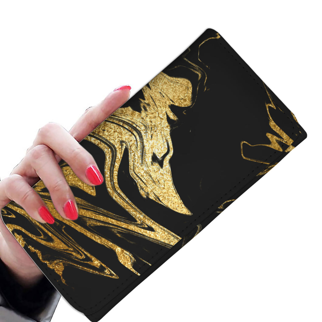 Black and Gold Wallet Purse