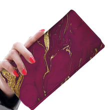Deep Purple and Gold Gild Wallet Purse
