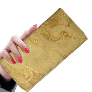 Gilded Gold Marble Wallet Purse