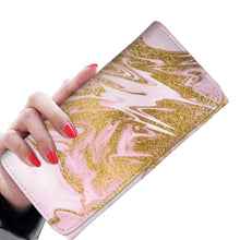 Pink and Gold Gild Marble Wallet Purse