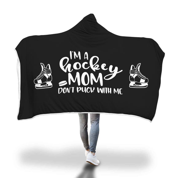 AHB-8760 I'm a Hockey Mom Don't Puck With Me Black