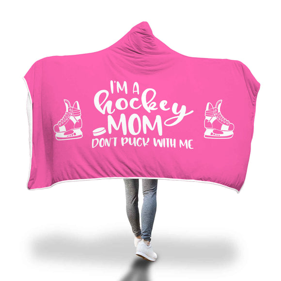 AHB-8800 I'm a Hockey Mom Don't Puck With Me Pink