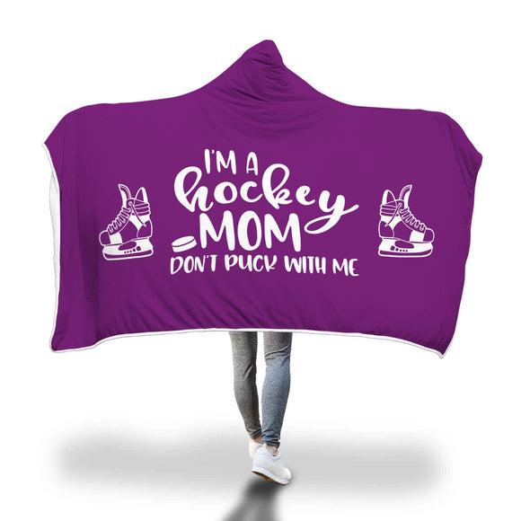 AHB-8810 I'm a Hockey Mom Don't Puck With Me Purple