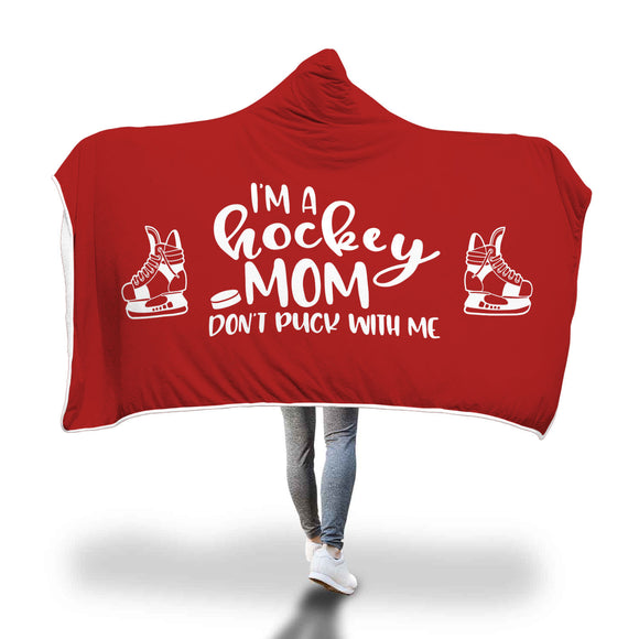 AHB-8820 I'm a Hockey Mom Don't Puck With Me Red