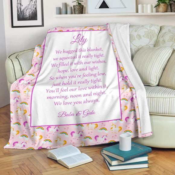 HBM - 1740 Unicorns 1 Family Hug Blanket