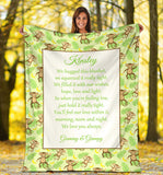 HBM - 1720 Jungle 2 Monkeys Family Hug Blanket