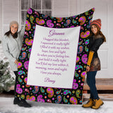 HBS - 1800 Bold Floral Paisley 1 Family Hug Blanket