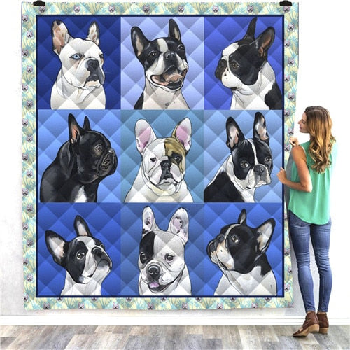 Boston Terrier Dog Quilt/Throw