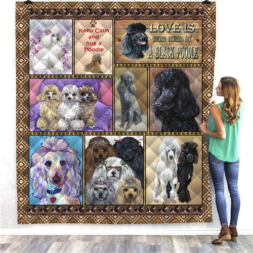 Poodle Dog Quilt/Throw