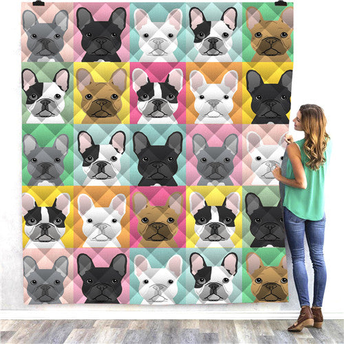 Boxer Dog Faces Quilt/Throw