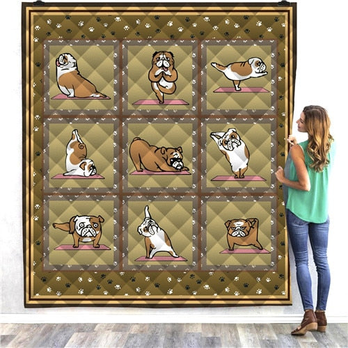 Yoga Dog Quilt/Throw
